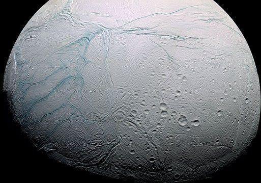 "The ""tiger stripes"" on Enceladus."