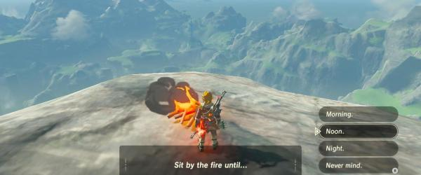 BOTW Star Fragment Farming - Setting a fire - Sit until Noon