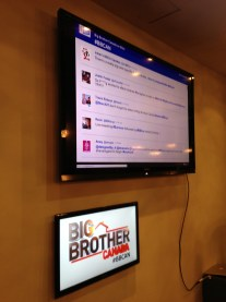 Throughout the night, live tweets from people across Twitter are featured on the board. All in real time.