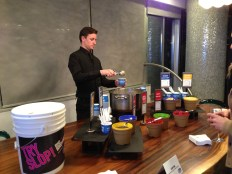 The Slop Bar Bartender made sure all guests had a chance to try the famous have-not food staple.