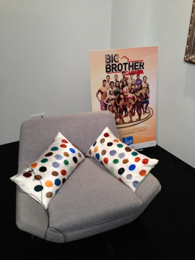 The infamous diary room chair and pillows. Do you have something you need to get off your chest?