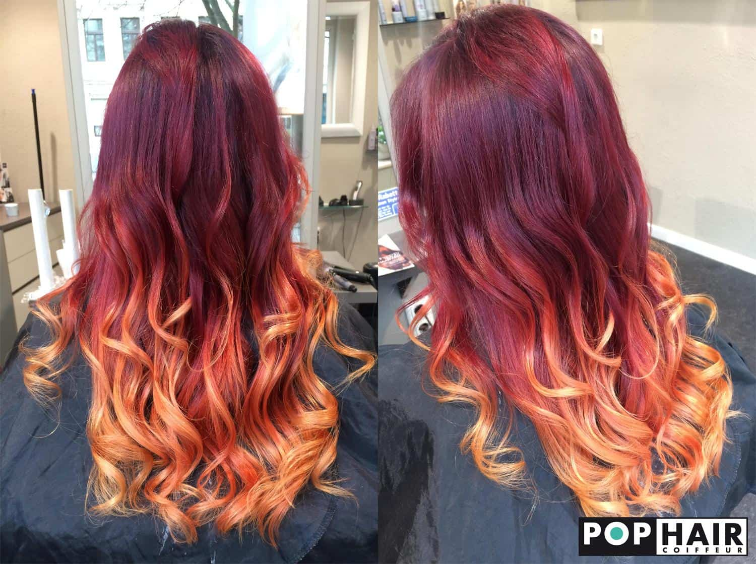 Feuriges Balayage POPHAIR