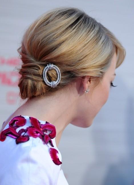 Emma Stone Chignon Hairstyle 2013