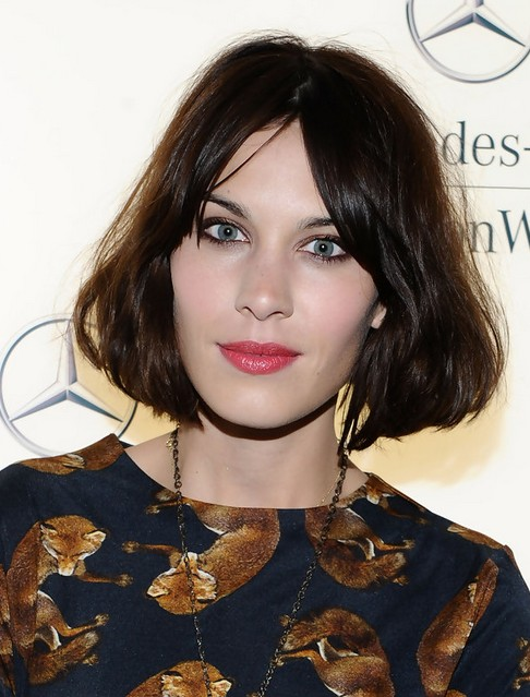Alexa Chung Short Hair Styles Pretty Straight Bob Haircut