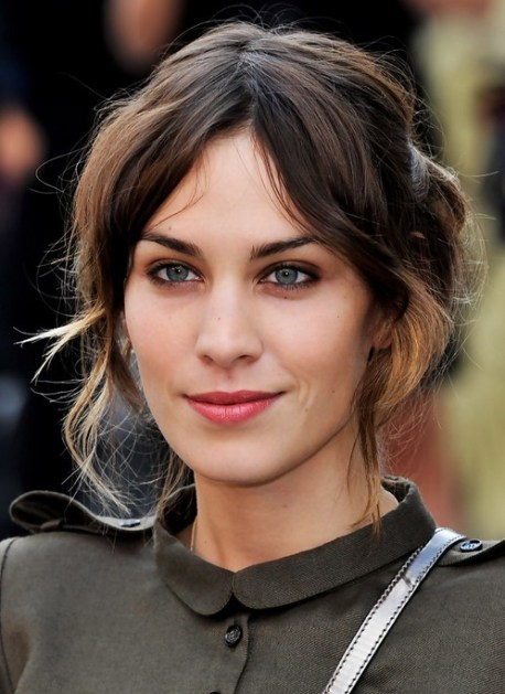 Alexa Chung Updo Hairstyle: Loose Bun for Prom