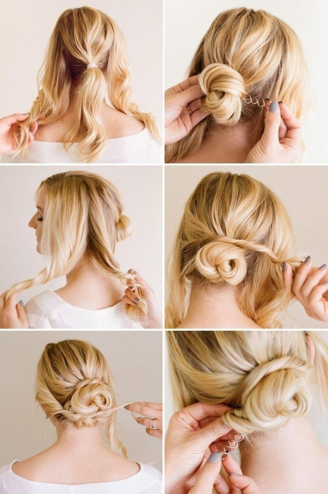 easy, chic updo hairstyle tutorial - popular haircuts