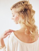 Half Up Half Down Hairstyles Tutorial: Loose Long Hairstyles