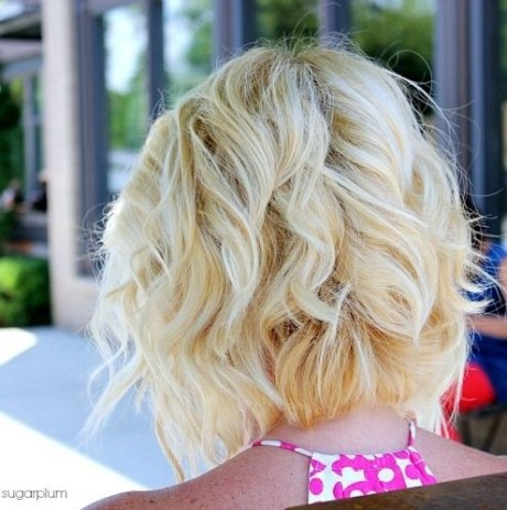 Blonde Curly Bob Hair Styles for Summer 2015