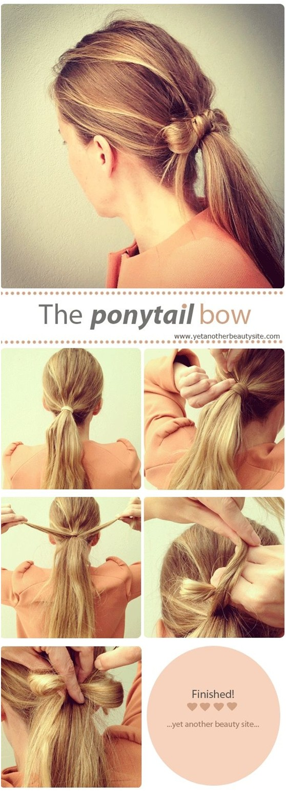 15 cute and easy ponytail hairstyles tutorials - popular