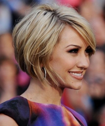 Side Parted Bob: Layered Short Hair 2015
