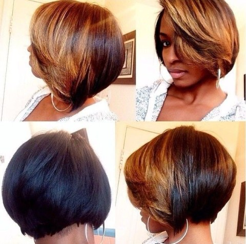 Simple Hairstyle for Short Hair: Bob Haircuts for Black Women