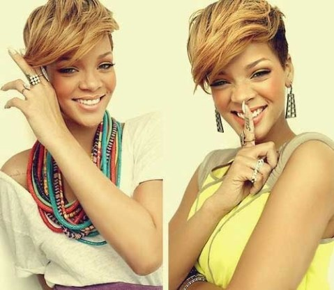 Trendy Short Haircuts for Black Women: Shaved Hairstyles with Side Long Bangs