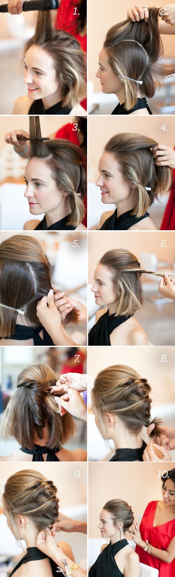 20 short hairstyles for girls: with or without curls! (1