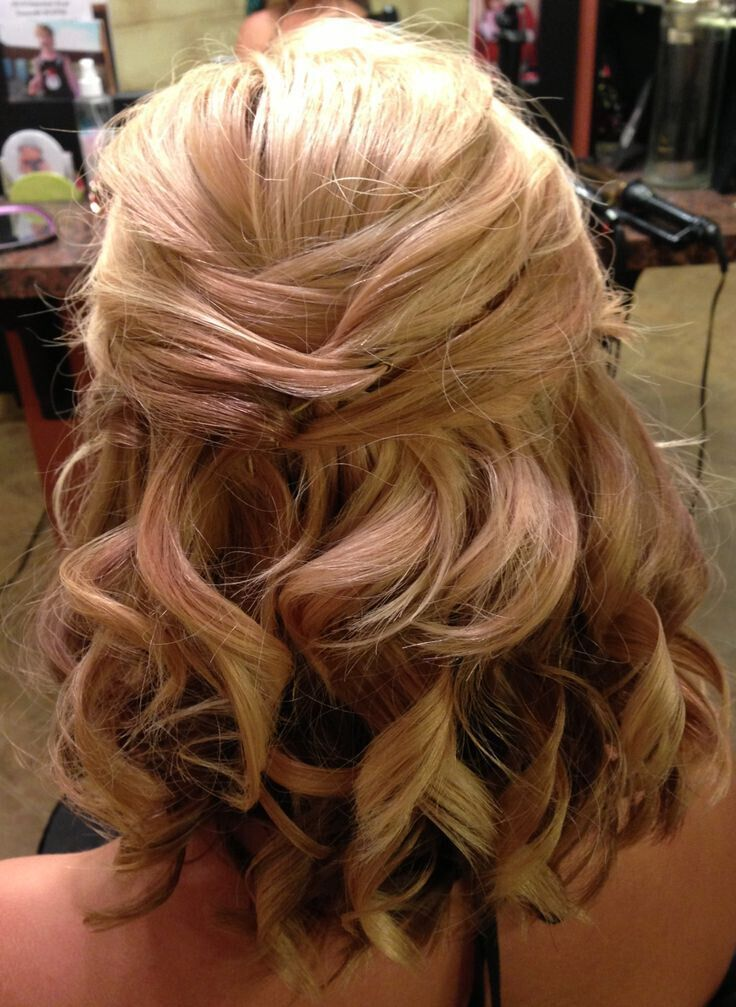 half up half down hairstyles for shoulder length hair wedding hairstyles