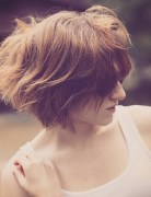 Messy Short Bob Hair Cut - Stylish Short Hairstyle Designs 2016