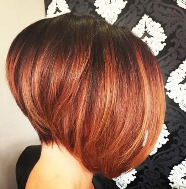 Red Ombre Short Bob Hairstyles
