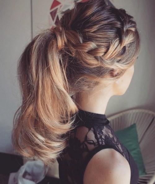 Cute Braided Ponytail Style
