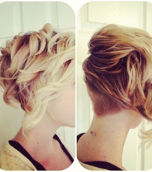 Short curls and texture with an undercut in the back - Blonde Short Hairstyles for Thick Hair