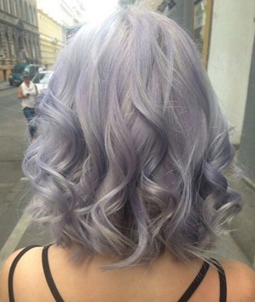 Curly, Long Bob Hair Cut - Balayage, Ombre Hairstyles