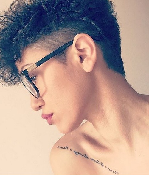 Short Hairstyles with Curly Hair - Stylish Undercut