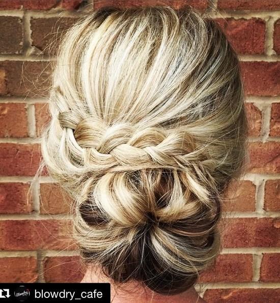 trendiest updos for medium length hair