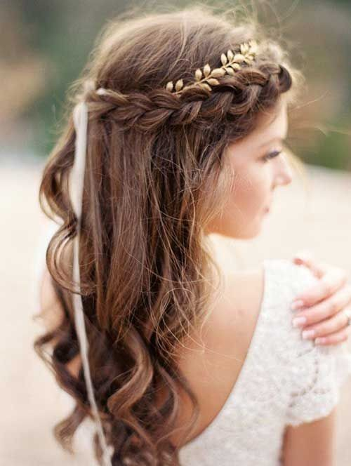 Simple Braided Hairstyles for Bridal