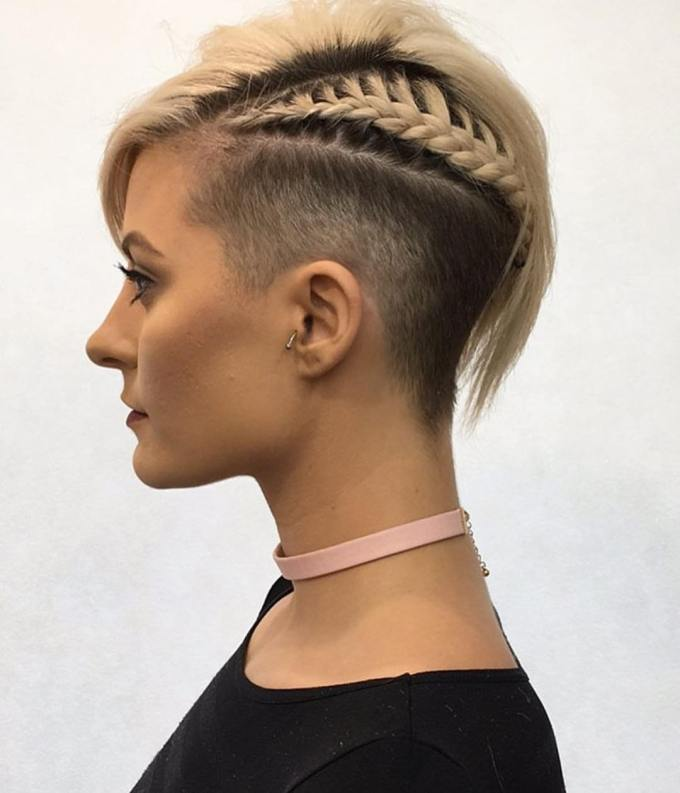 10 chic shaved haircuts for short hair 2019