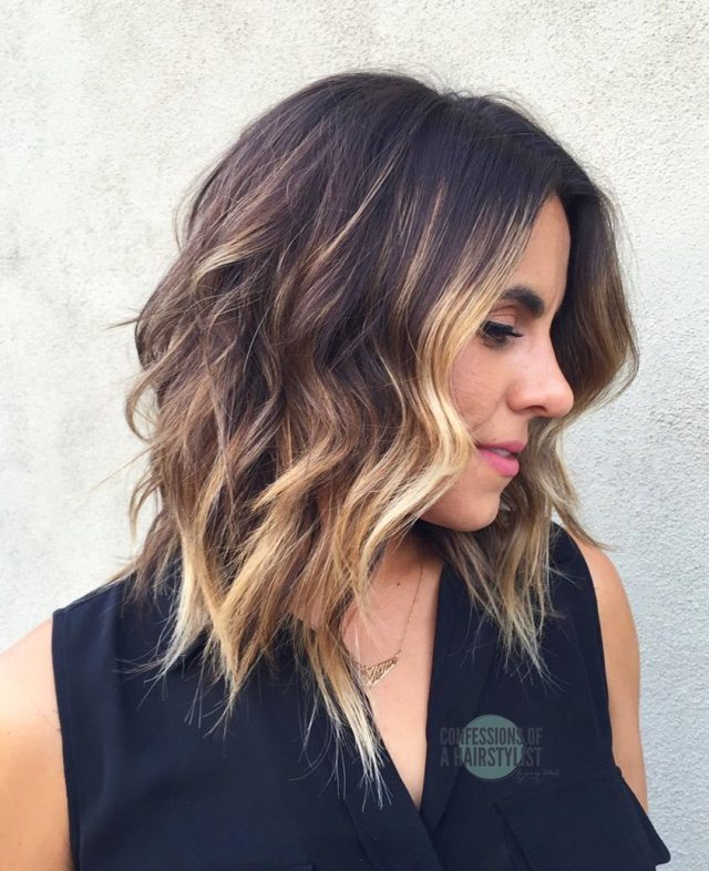 10 wavy shoulder length hairstyles 2019