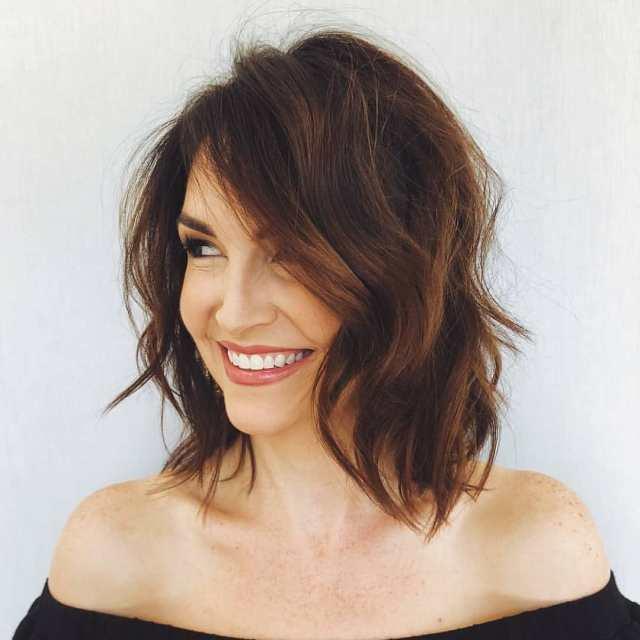 Sensational Shoulder Length Haircuts, Women Medium Hairstyles for Thick Hair