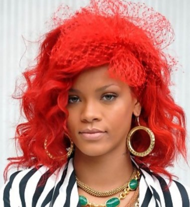 Rihanna Medium Hairstyles for Prom 2012