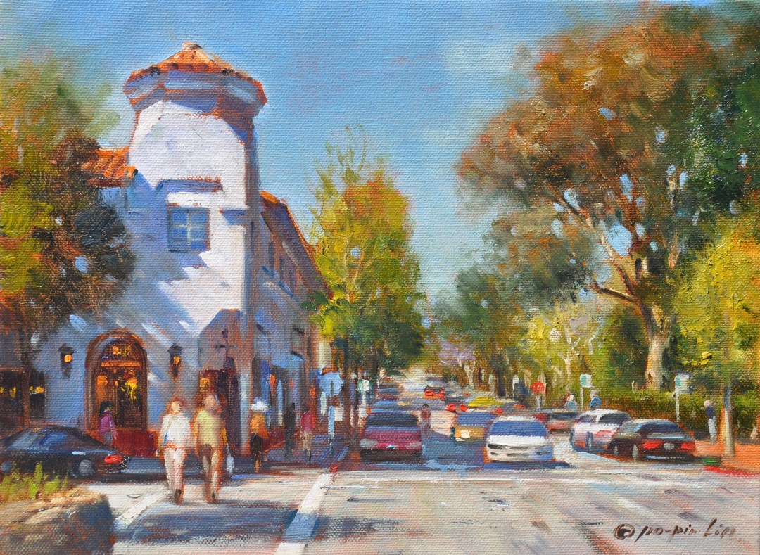 Carmel Downtown, 9x12 (SOLD)