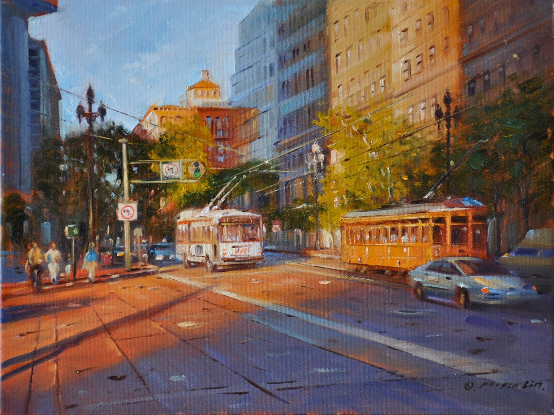Evening Lights, 11x14 (SOLD)