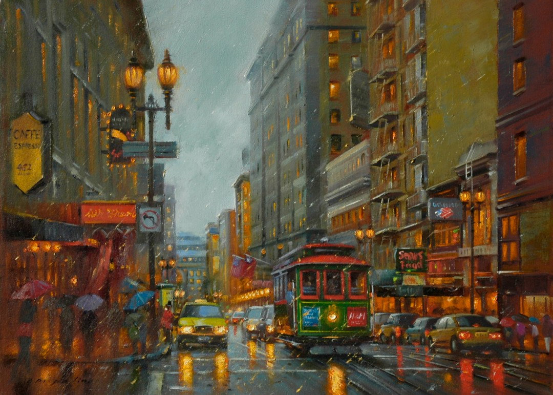 City Lights, 18x24 (SOLD)