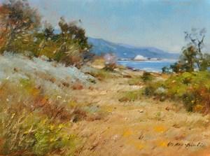 "Point Lobos Path, 9""x12"" (SOLD)"