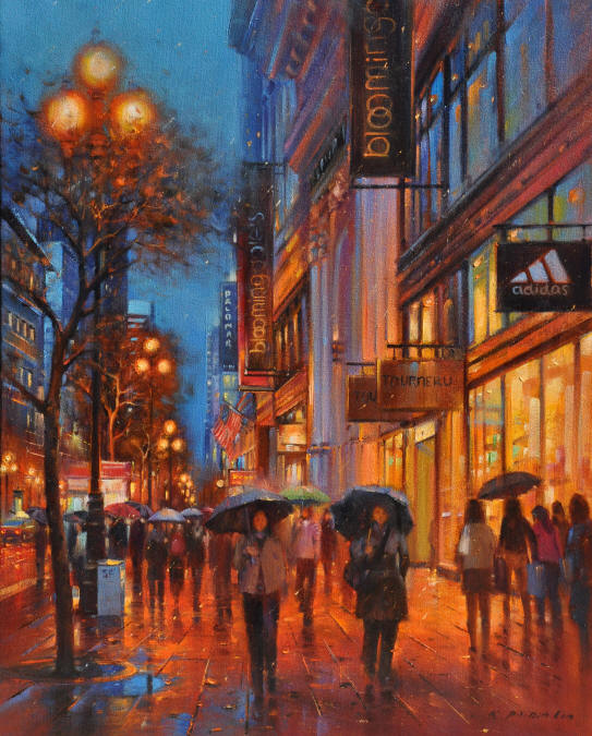 SF Night, 30x24 (SOLD)