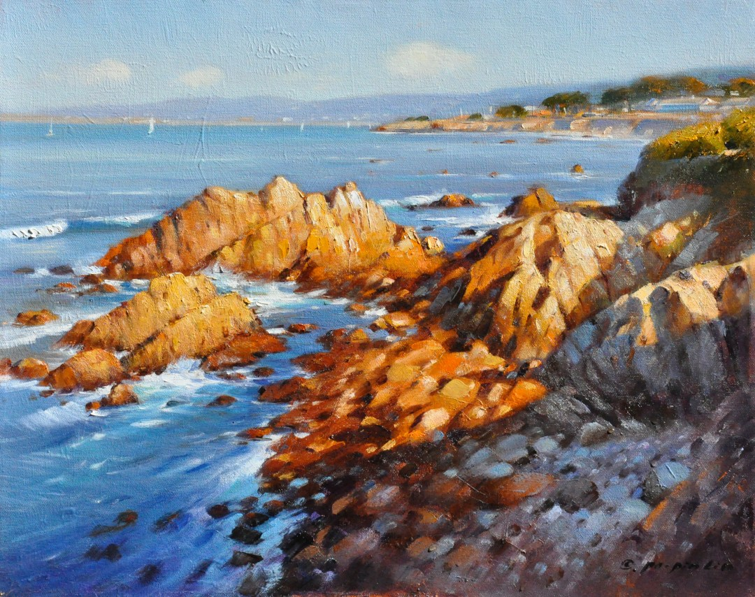 Sunset at Pacific Grove, 16x20