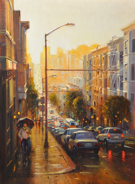 Sunset Glow (San Francisco), 24x18