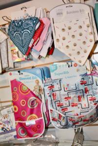 baby bibs on display at whites farm baby barn