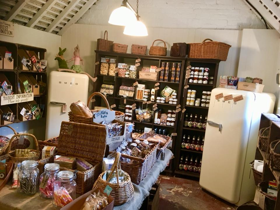 The Old Cow Shed shop at The Dandelion Hideaway