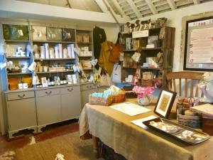 The Old Cow shed shop at the Dandelion Hideaway glamping site