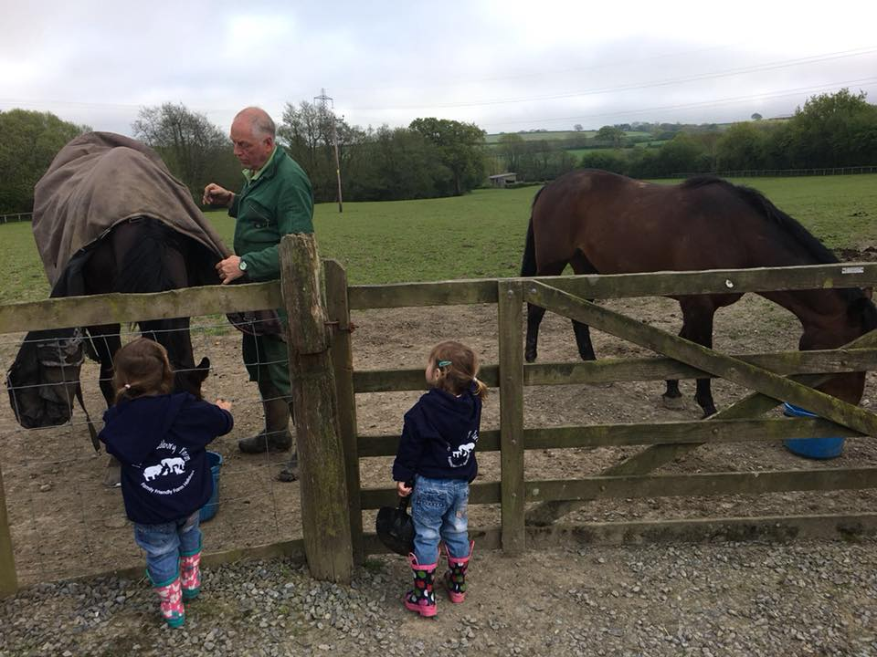 The Popitha Twins are brining the ponies in from the field at North Bradbury Farm