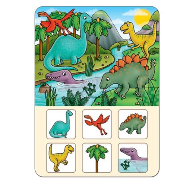 Dinosaur lotto game form Orchard toys