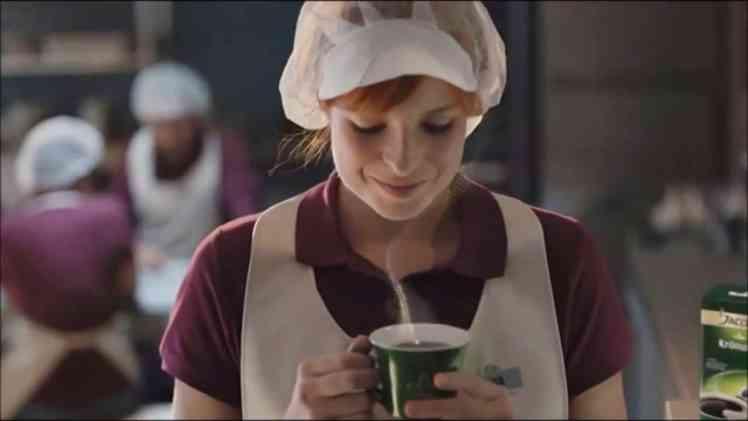 Screenshot aus Jacobs Werbung