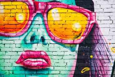 Graffiti einer Frau