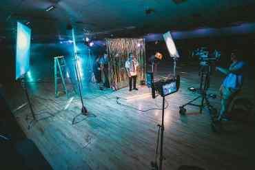 Am Set eines Musikvideos