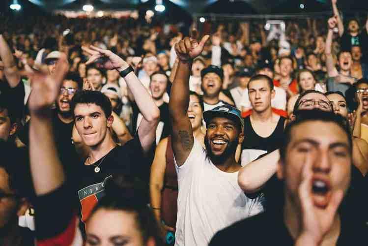 Fans auf einem Konzert