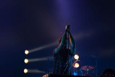 Sänger am Mikrofon