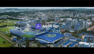 Screenshot aus Adobe Sign Werbung