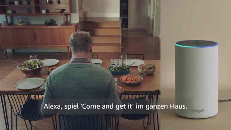 Screenshot aus Amazon Echo Werbung