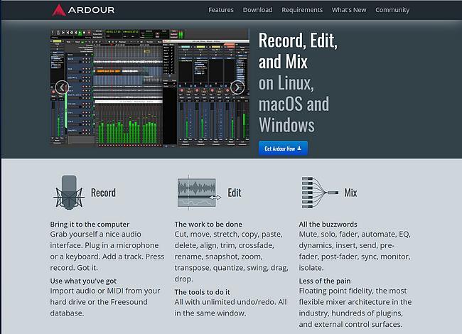 Ardour Webseite